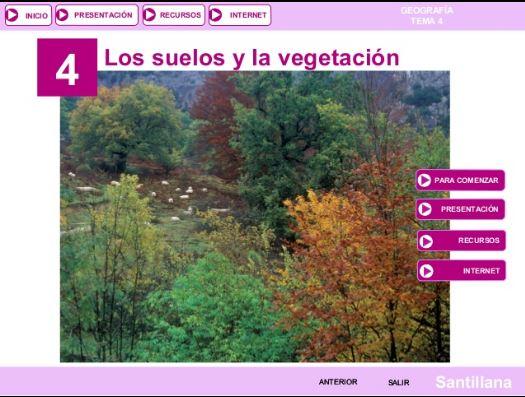 Tema 4. Los suelos y la vegetación de España