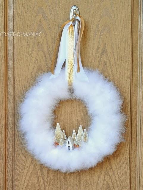 White Feather Trees Christmas