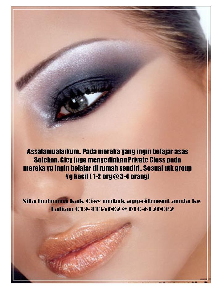 Giey Seri Pengantin, Kuantan: Kelas Make-up Private
