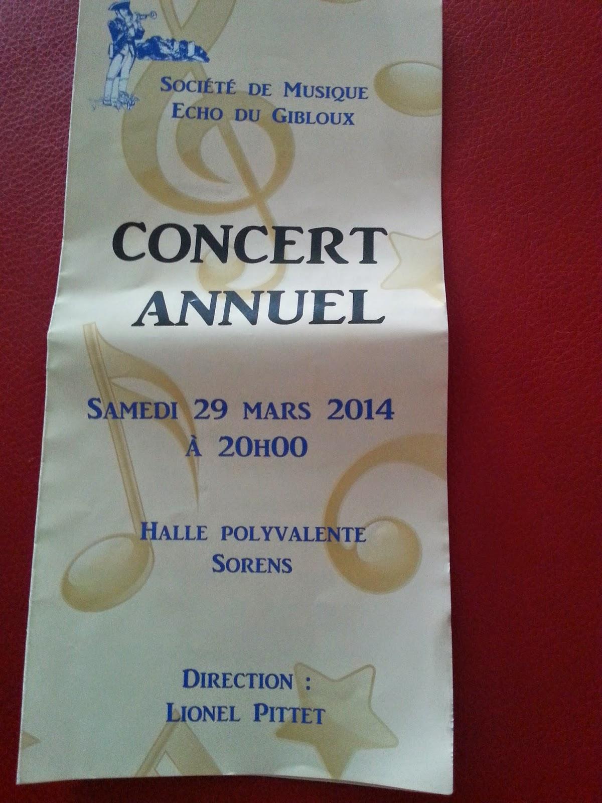 Fim de semana : Concerto de música na Suíça.