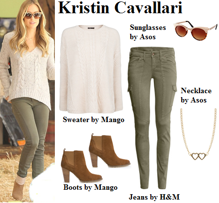 kristin cavallari, casual, fall, outfit, boots, sweater