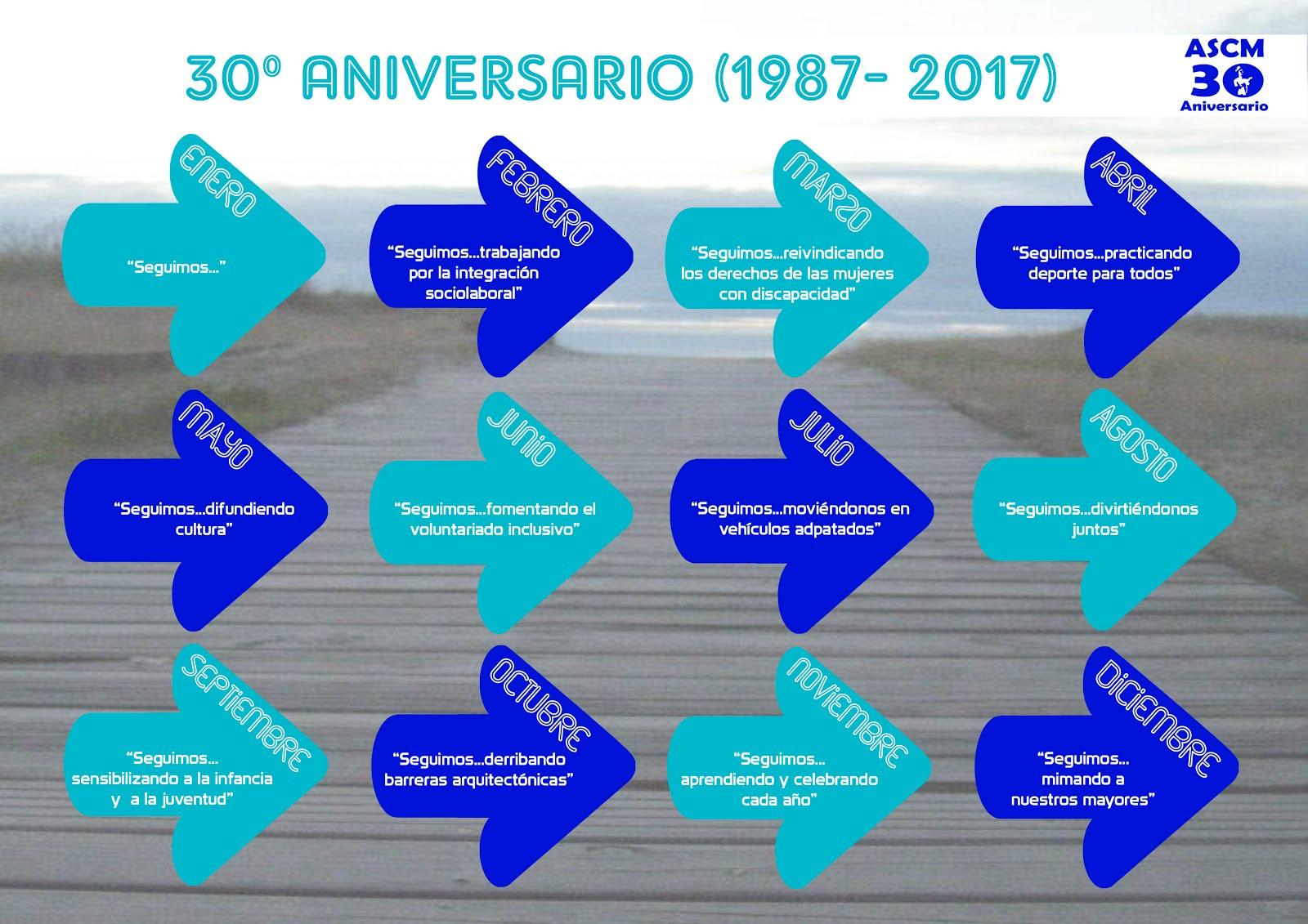 Calendario 30ºAniversario