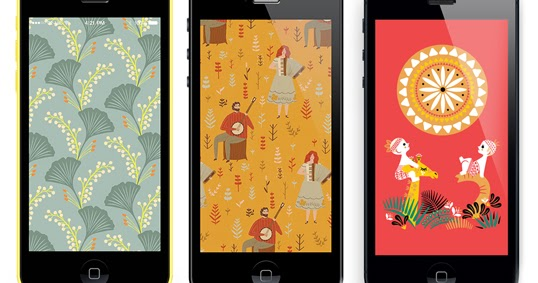 Illustrated wallpapers for Apple devices