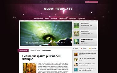 Glow Blogger Template