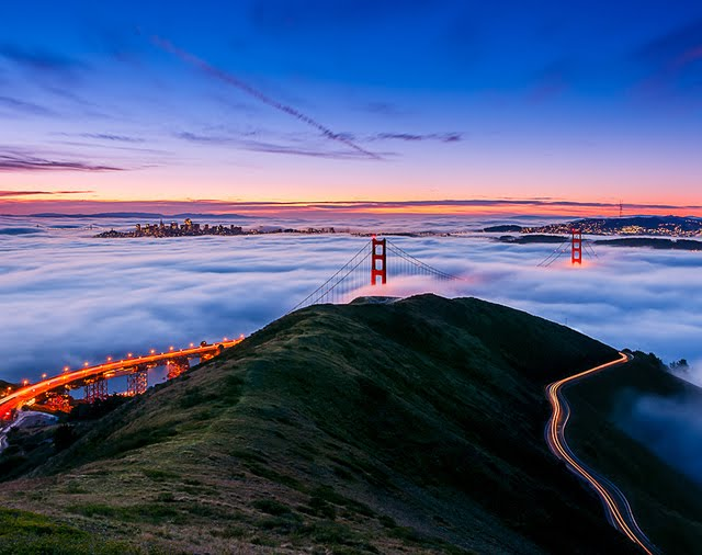 Puente Golden Gate en San Francisco, California, USA.