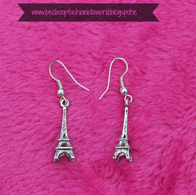 August Thrift Finds Pandoras Box Galway eiffel tower earrings