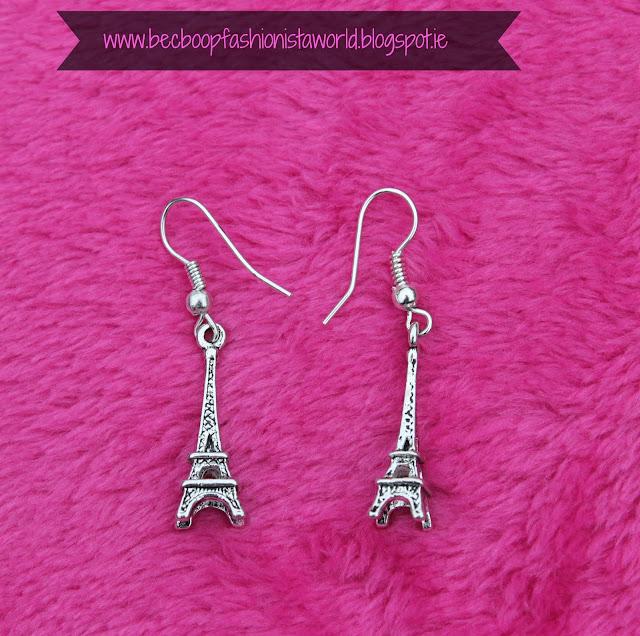 August Thrift Finds Pandoras Box Galway eiffel tower earrings