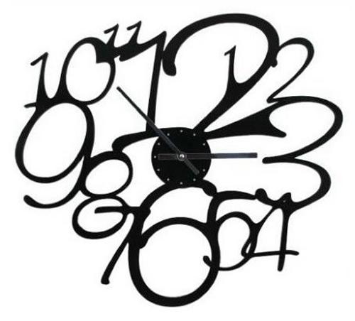 ===Unas manillas con arte=== - Página 2 Frivolo_Black_Wall_Clock