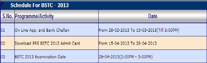 Pre Exam Admit Card Download Your Bstc