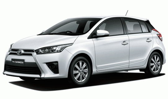 Toyota All New Yaris Super White