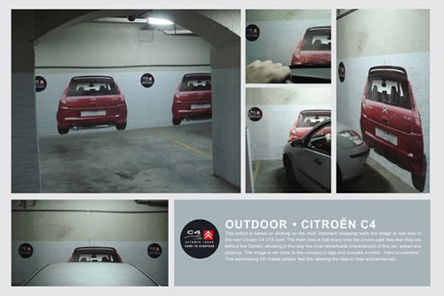 Parking - Iklan stiker kreatif