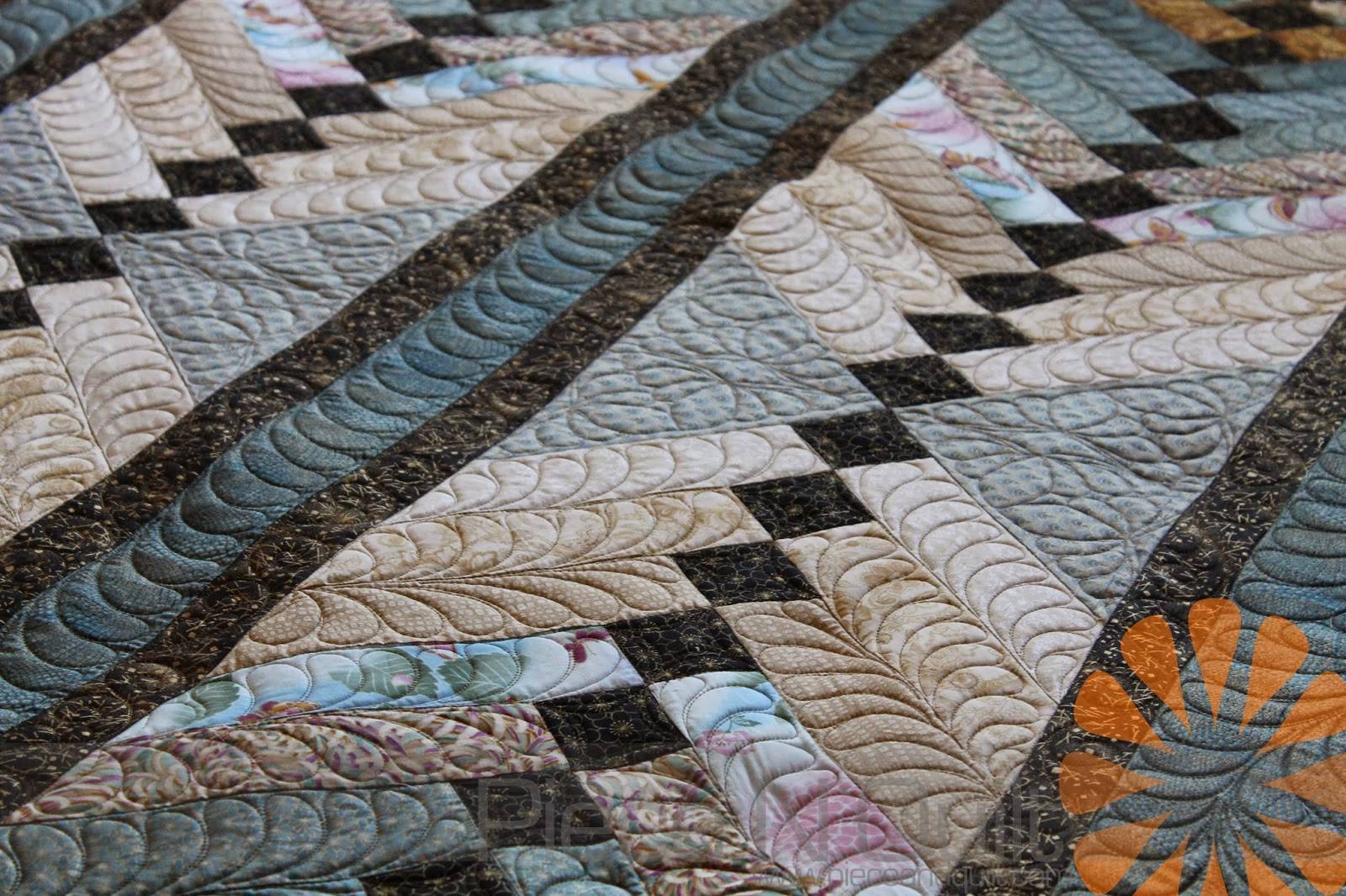 Piece N Quilt Custom Machine Quilting Feathers By Natalia Bonner