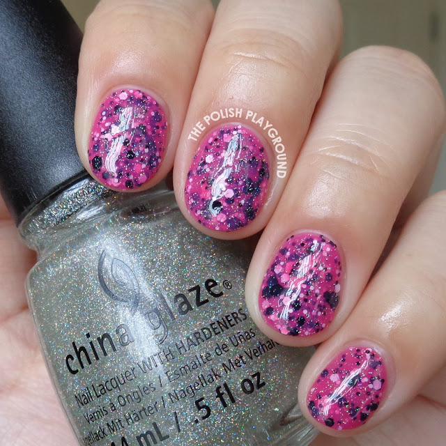 Pink Jelly Sandwich with Sparkle Nail Art