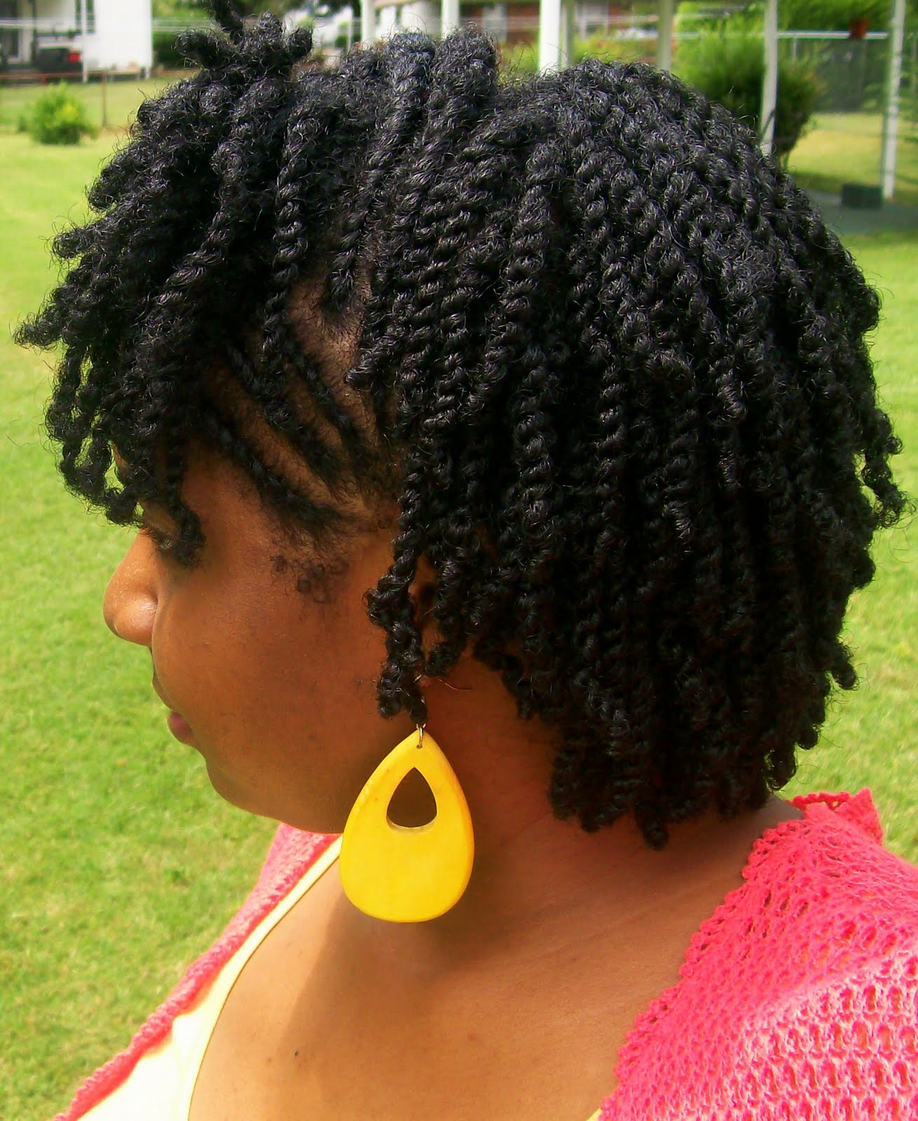 FroStoppa: Ms-gg's natural hair journey and natural hair blog: Swirled Flat twists with mini ...