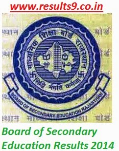 BSER Rajasthan Commerce examination Results 2014