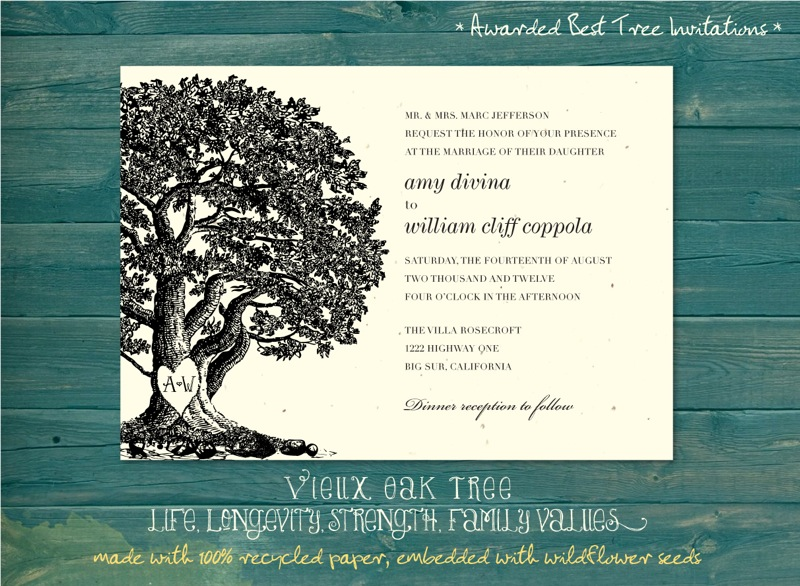 Oak Tree Wedding Invitations is one of our best ideas you might choose for invitation design