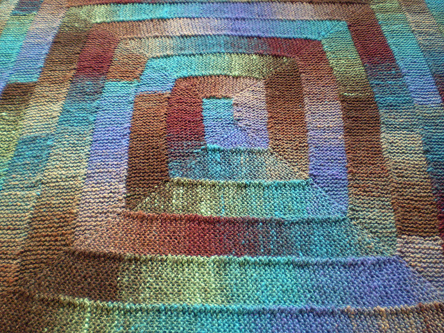 How To Knit Stitches On Scrap Yarn : The Adventures of Erin: Scrap Yarn Blanket - Knitting Project