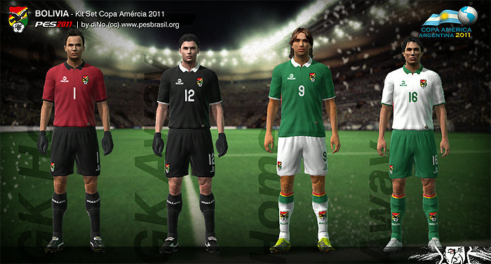 Bolivia Copa America 2011 Kit Set by diNo