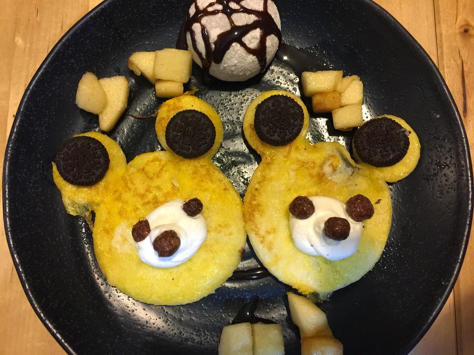 九龍 旺角 J-Point CAFE 全日點喫茶店 大人的兒童餐 甜睡的小熊家族 班戟配肉桂蘋果