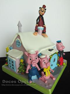 cake THREE LITTLE PIGS birthday