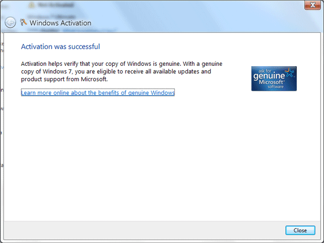 And, Windows 8 Genuine Center will now show activation status of