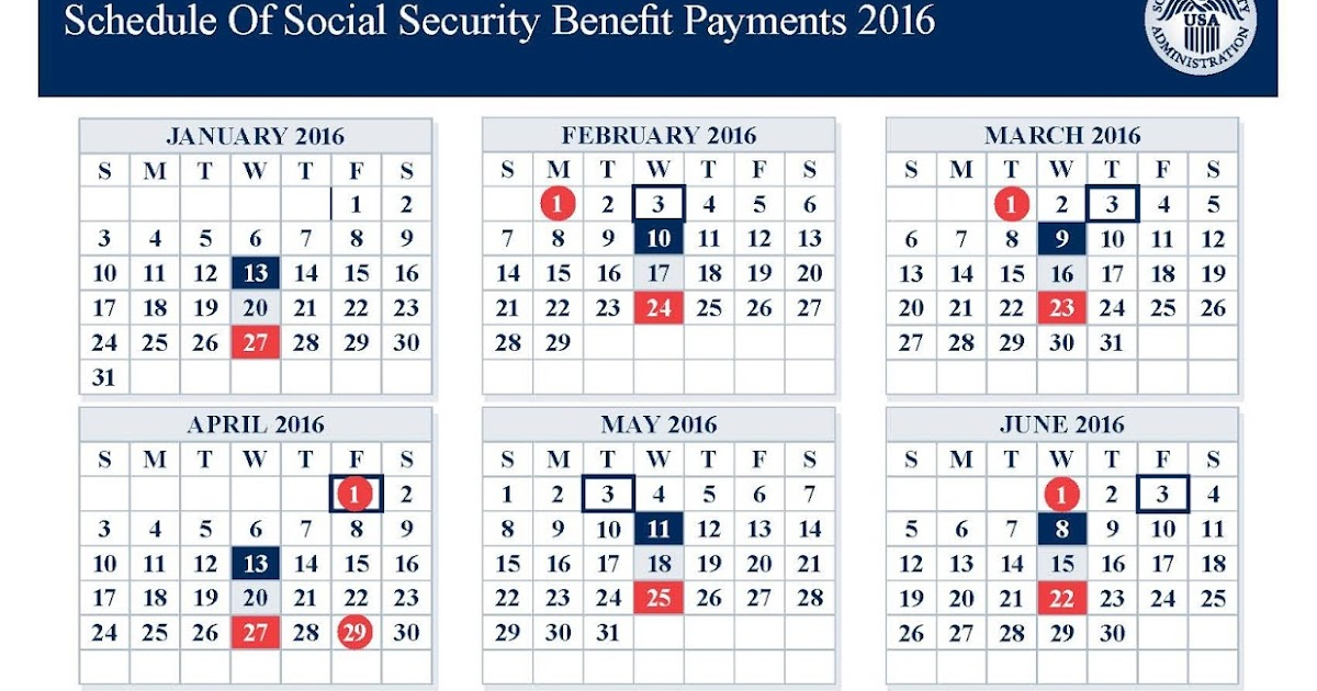 New Schedule Of Social Security Benefit Payments 2016 Release, Reviews ...