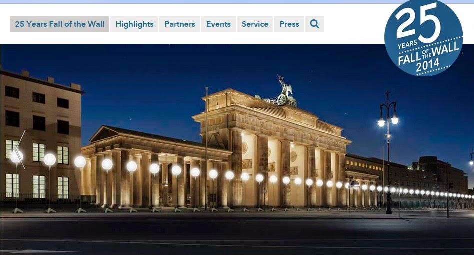comemoração dos 25 anos da queda do muro de Berlim
