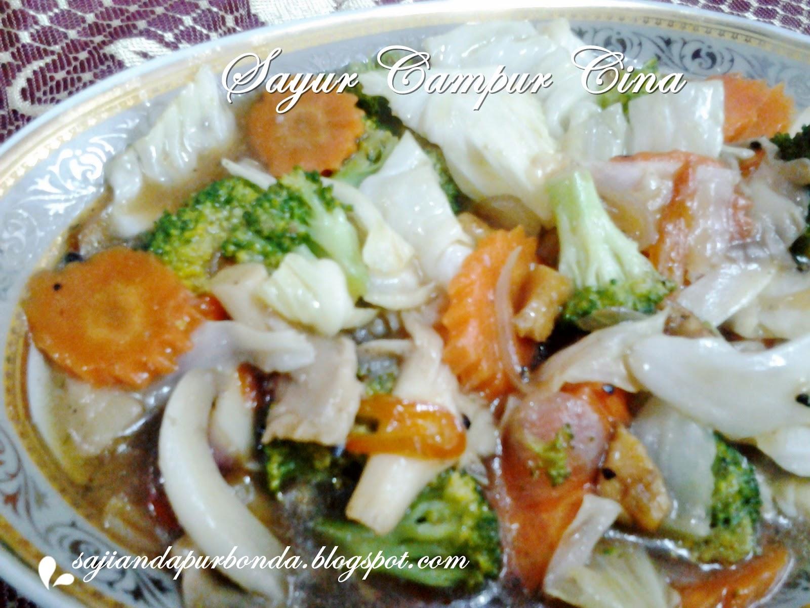 Tips Resep Cara Membuat Sayur Campur Cina