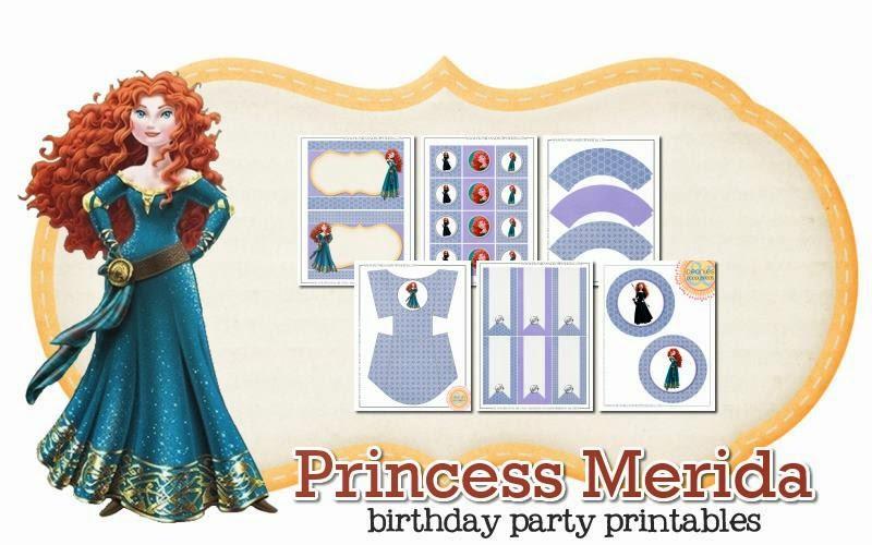 Imprimible gratis de Mérida - Fiesta de princesas