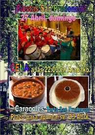 CENA SAN PRUDENCIO!!! // 27 ABRIL (domingo)