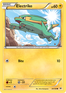 Electrike Roaring Skies Pokemon Card