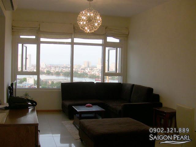 Cho thuê căn hộ 86m2 tòa nhà Ruby 2 | phòng khách view Quận 2