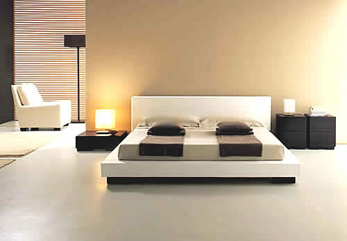 Principles of bedroom interior design house interior for Minimalist house gallery