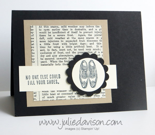 Stampin' Up! Guy Greetings card for Father's Day or Retirement #stampinup #masculine www.juliedavison.com
