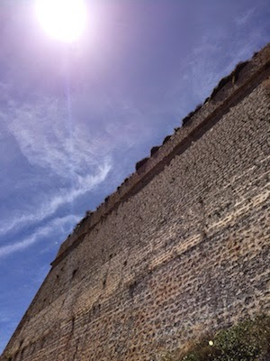 Chuck and Lori's Travel Blog, Medieval Fortress Wall in Ibiza Under Spanish Sun