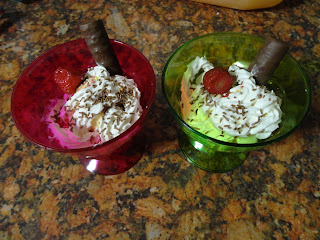 Home Made Ice Cream Sundaes