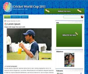 Cricket World Cup Blogger Template