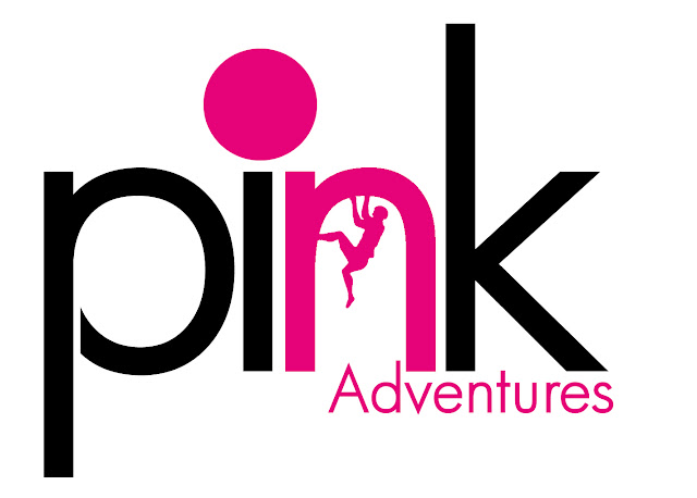 logo, pink adventures, climb rochdale, climbing, adventure sports, pink, outdoors, graphic design,
