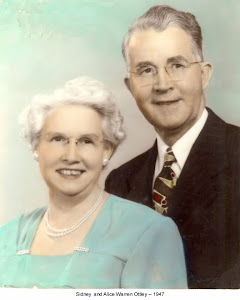 My Grandmother Alice and Grandfather Sidney Ottley