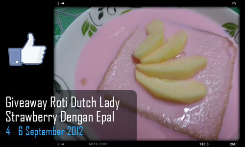 Giveaway Roti Dutch Lady Strawberry Dengan Epal