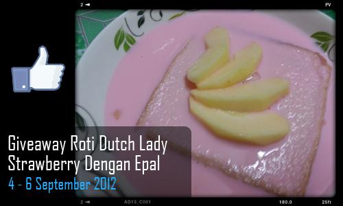 Giveaway Roti Dutch Lady Strawberry Dengan Epal