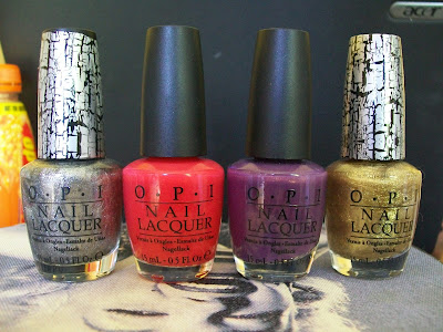 OPI, Shatter, Silver, Gold, Holland, Dutch you just love OPI, Red lights ahead. .. Where?, Nails, Nail polish, nail varnish, nail lacquer, that's the way the cookie crumbles, cosmetics, make up,