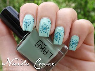 Nailz Craze stamping plate dandelion stamp