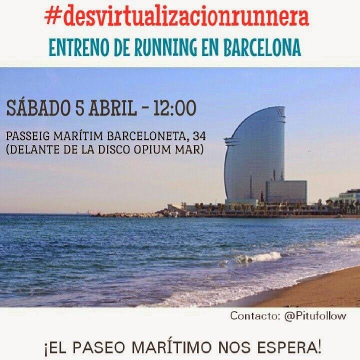 desvirtualizacionrunnera evento entreno running instagram twitter barcelona barceloneta