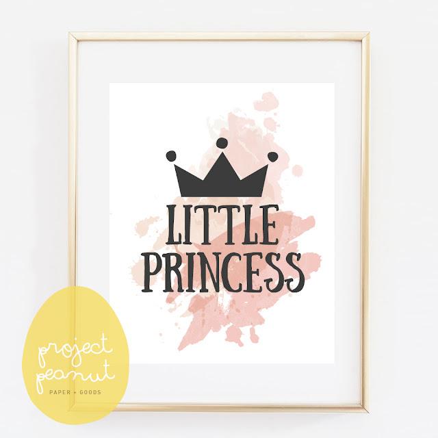 Little Prince/Princess Printable Wall Art Nursery Poster   projectpeanut.com.au