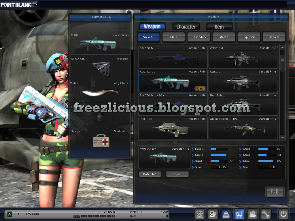 DOWNLOAD AUG A3 BLAZE with SCOPE & UI_ WEAPON Point Blank Offline
