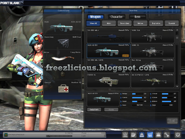 Download Aug Blaze With Scope And Weapon Point Blank Offline