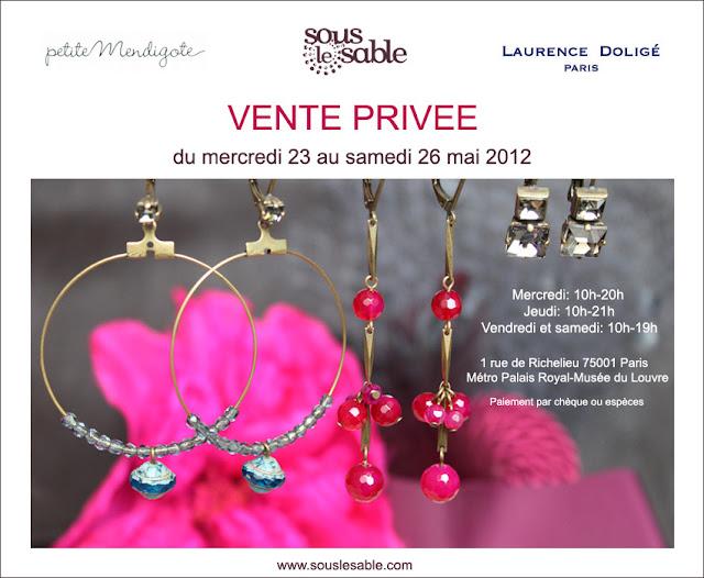 entes Privées invitation Petite Mendigote, Sous le Sable, Laurence Doligé Paris