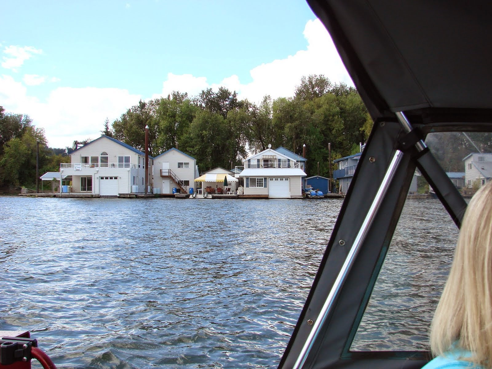 This floating home needs a tiki.