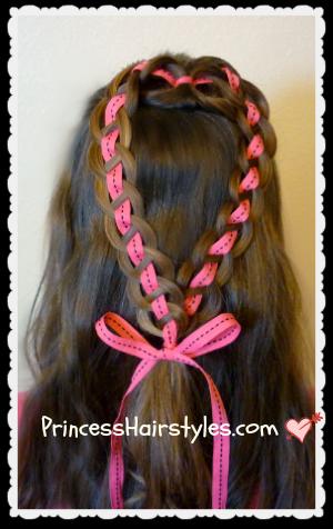 ribbon heart hairstyle